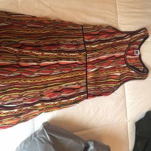 M Missoni Racerback multicolor stripe dress sz 48